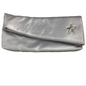 Thierry Mugler Bags - Thierry Mugler Silver Star Fold Over Clutch